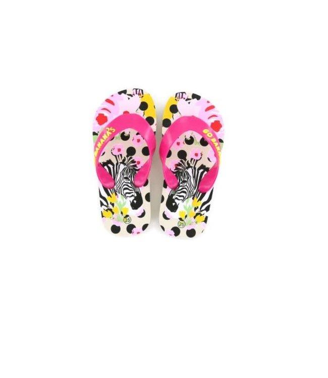 Shoesme Go Banana slipper ZEBRA-SL Green Leopard