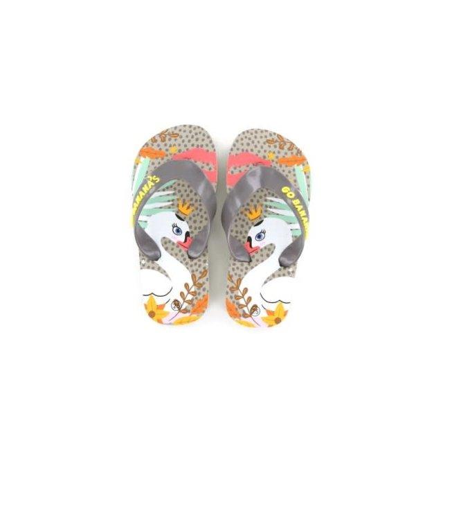 Shoesme Go Banana slipper SWANKISS-SL Zilver