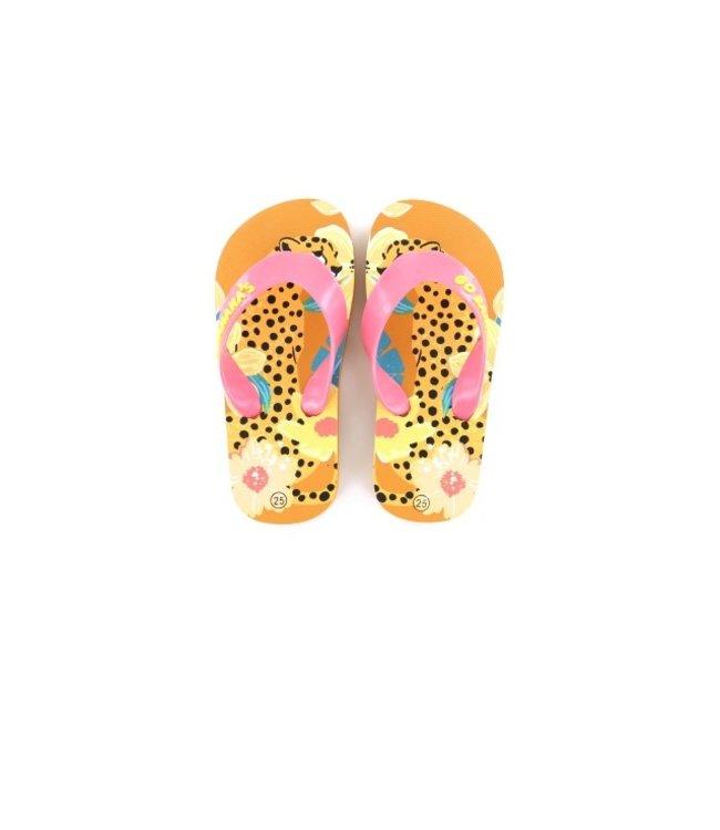 Shoesme Go Banana slipper LEOPARD-SL LEO CREMA