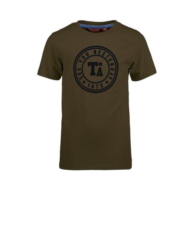 Tygo & Vito T&v T-shirt round logo print army X103-6411 375