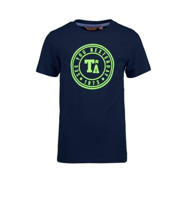 Tygo & Vito T&v T-shirt round logo print navy X103-6411 190