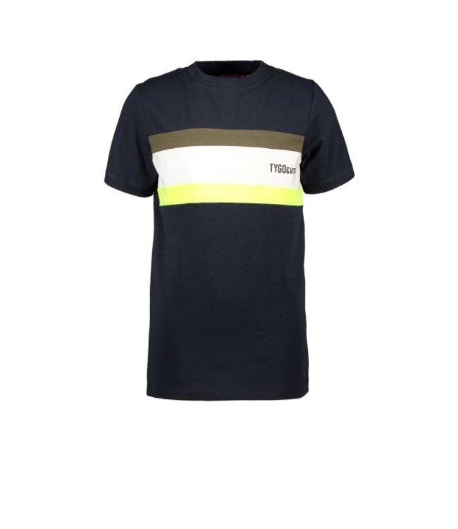 Tygo & Vito T&v T-shirt colourblock SMALL LOGO X103-6467