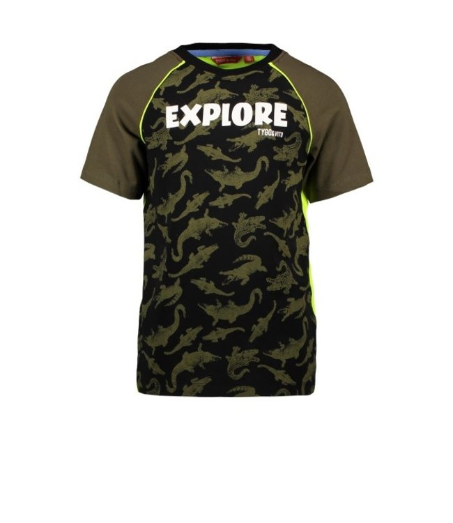 Tygo & Vito T&v raglan T-shirt AO CORODILE EXPLORE X103-6466