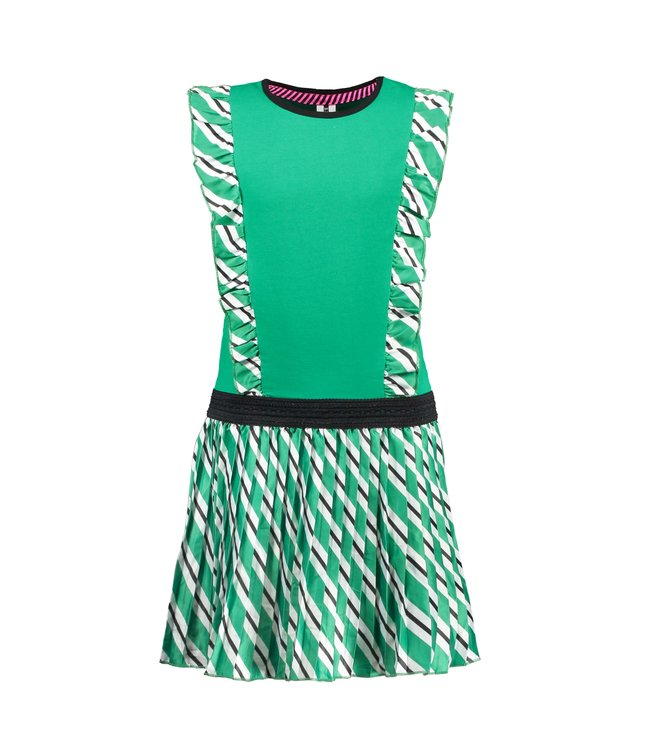 B.Nosy Girls jersey dress with printed woven satin skirt Y103-5851