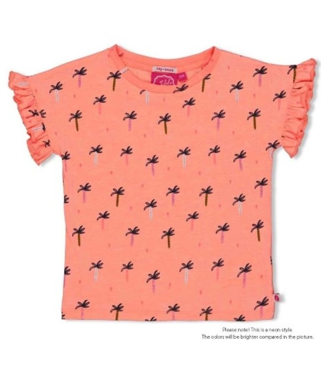 Jubel T-shirt AOP - Whoopsie Daisy Neon Koraal 91700281