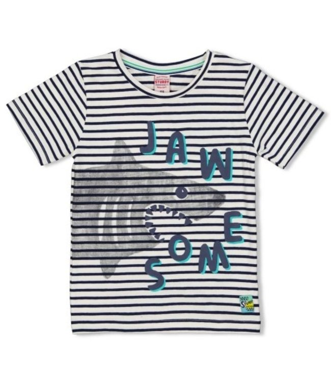 Sturdy T-shirt streep - Smile & Wave 71700328