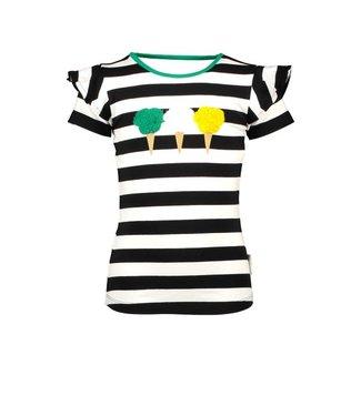 B.Nosy Girls shirt with icecream artwork, open back part Y103-5465