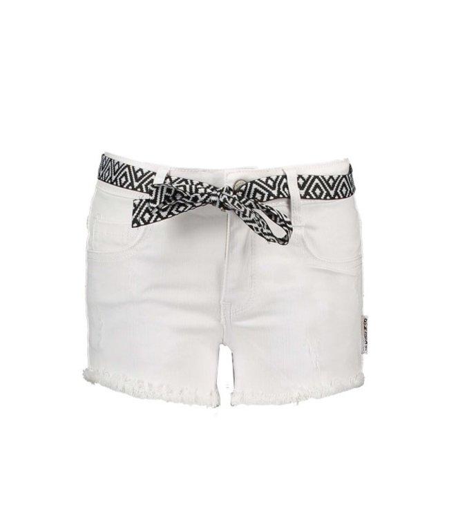 B.Nosy Girls white denim shorty with fancy string Snow White Y103-5650