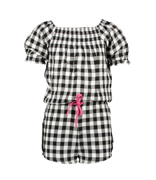 B.Nosy Girls check short jumpsuit with string in waistband Y103-5651