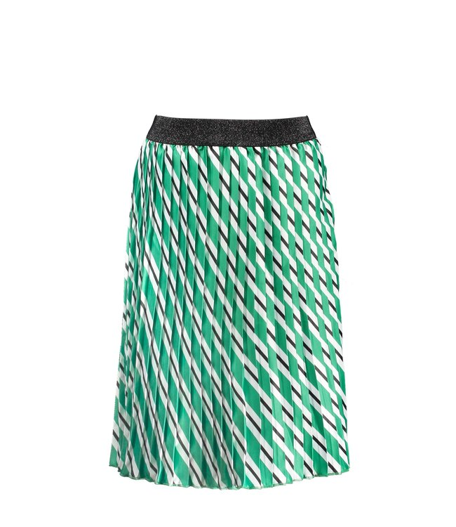 B.Nosy Girls woven satin skirt with slanted stripe print Y103-5751