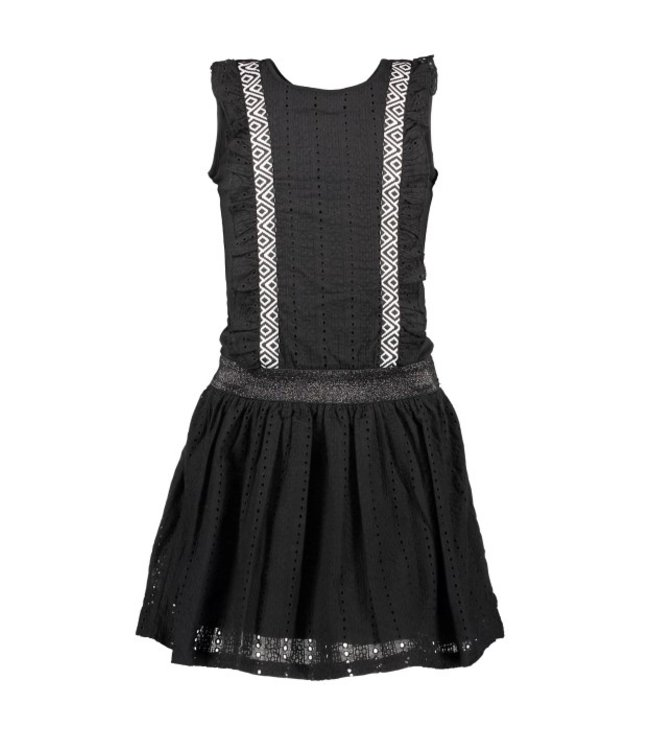 B.Nosy Girls dress with cotton lace ruffle + skirt Y103-5853