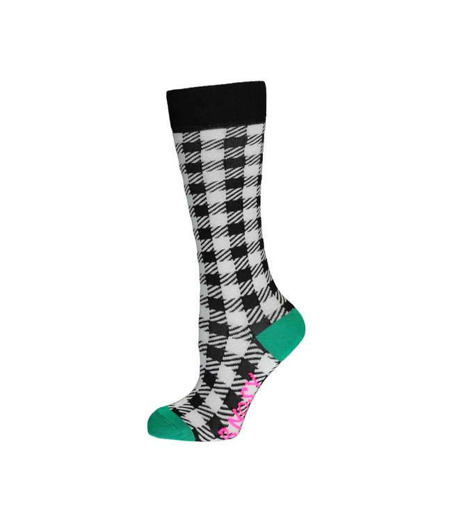 B.Nosy Girls black check socks Y103-5952