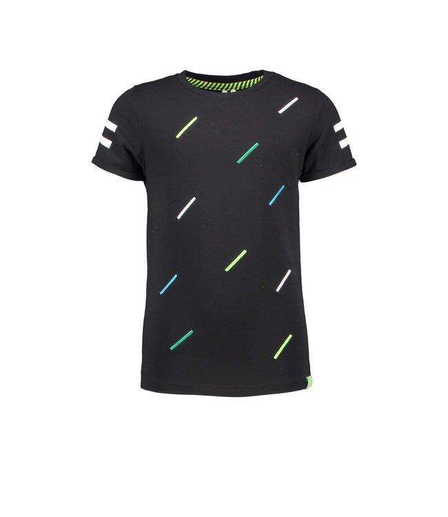 B.Nosy Boys short sleeve with multicolor body stripe print Y103-6424