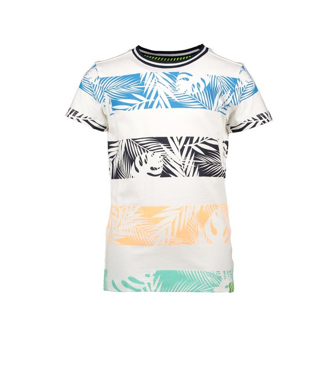 B.Nosy Boys t-shirt with palm print stripes Y103-6440