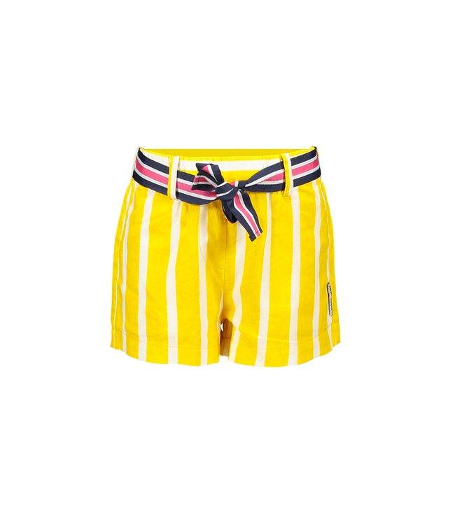 B.Nosy Girls striped woven short with fancy belt Y103-5670