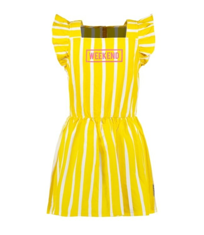 B.Nosy Girls striped dress with ruffle around armhole Y103-5871