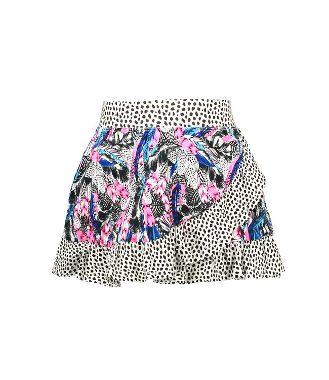 B.Nosy Girls skirt with contrast ruffle Y104-5790
