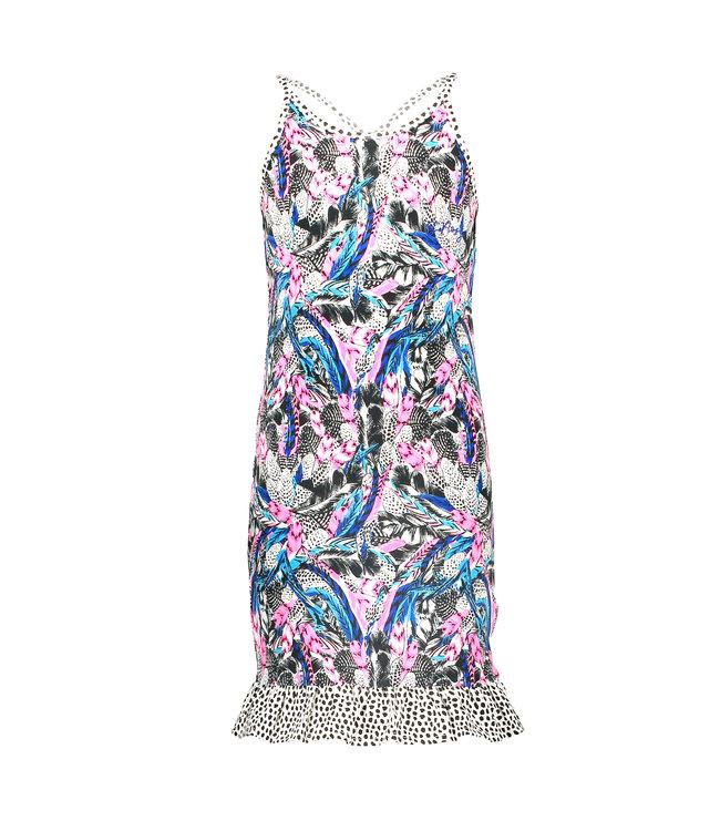 B.Nosy Girls dress with contrast ruffle Y104-5890