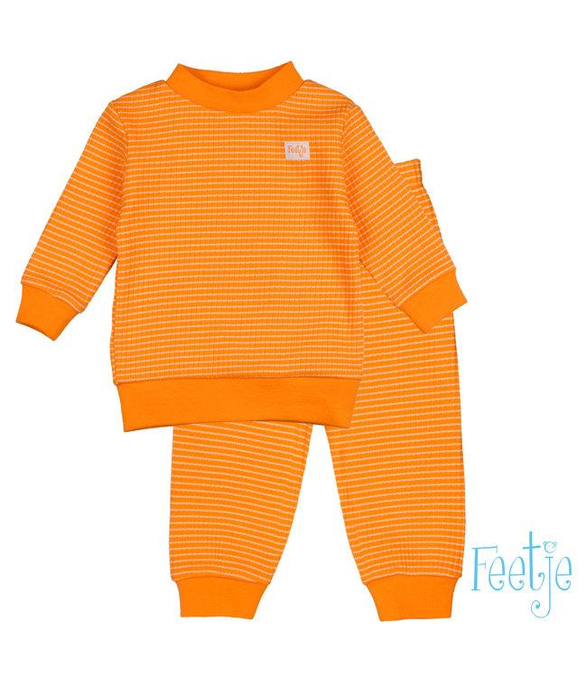 Feetje Feetje Wafel Pyjama oranje