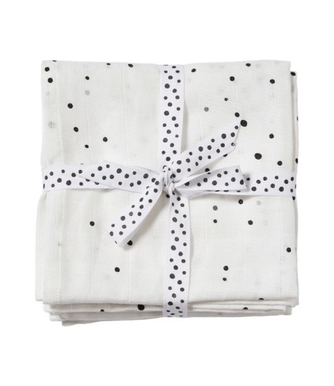 Done by Dear Done by Dear Swaddle, 2-pack dreamy dots black/white 120x120 3103578