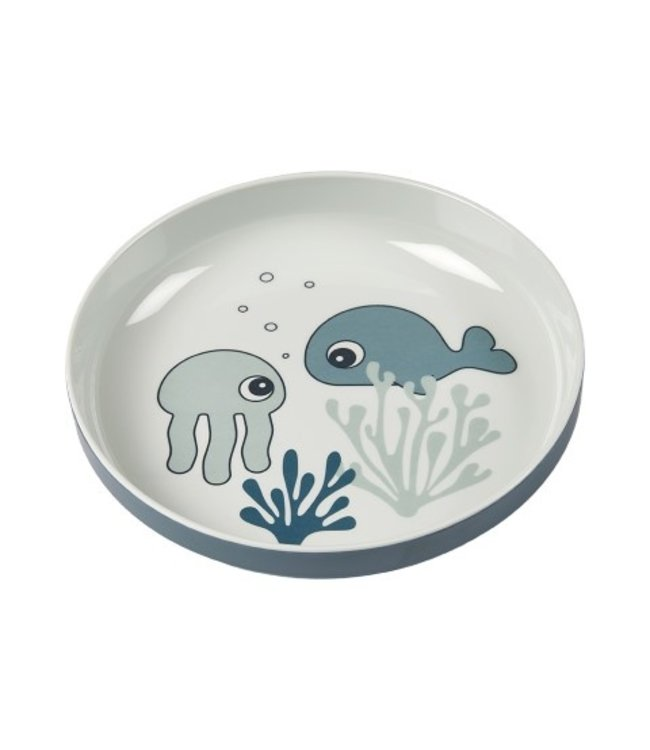 Done by Dear Done by Dear Yummie mini plate sea friends blue 1709512