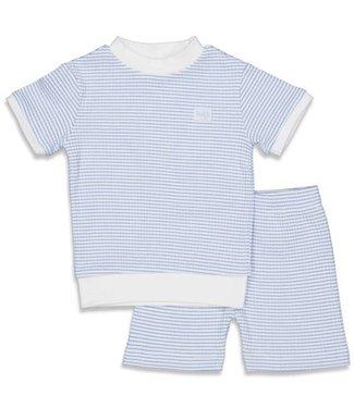 Feetje Feetje Pyjama kort wafel Blue