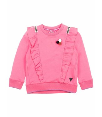 Jubel Animal Attitude Sweater ruches roze