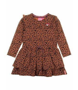 Jubel Animal Attitude jurk AOP bruin