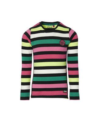 Quapi Quapi Girls longsleeve Daniela multi colour stripe