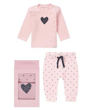 Noppies Noppies giftset broekje en shirtje roze
