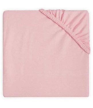 Jollein Jollein Hoeslaken double jersey 60x120cm blush pink