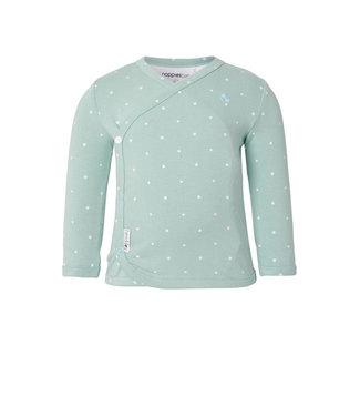 Noppies Anne overslag shirtje met sterren mint groen