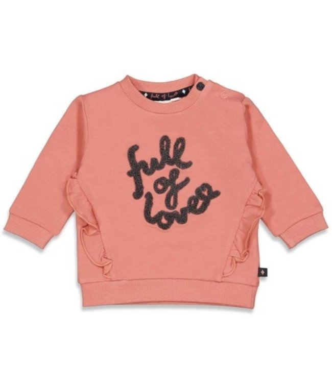 Feetje Feetje Sweater - Full Of Love Terra Pink 51601747