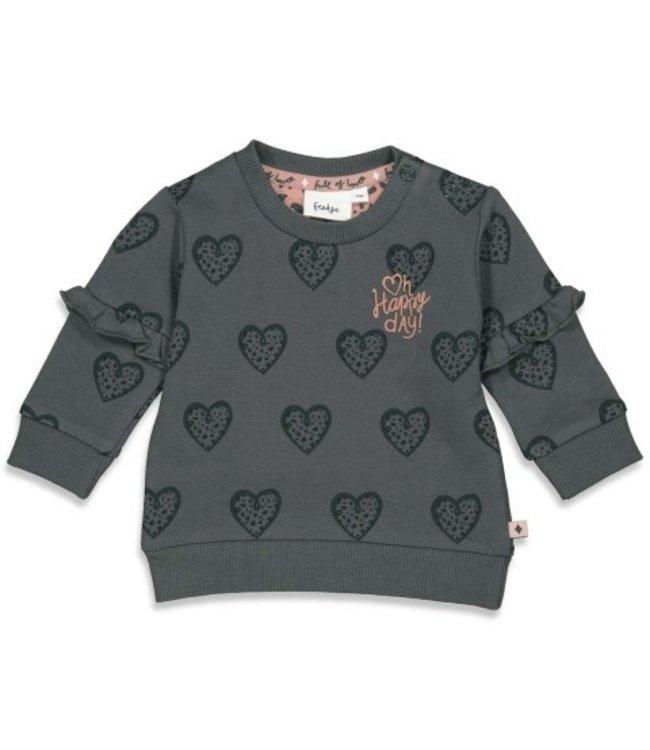 Feetje Feetje Sweater AOP - Full Of Love Antraciet 51601746