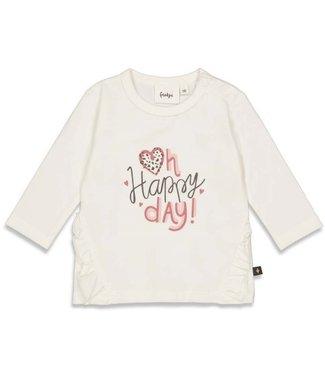 Feetje Feetje Longsleeve Happy Day - Full Of Love Offwhite 51601748