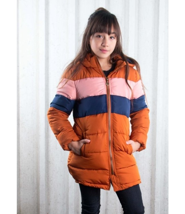 B.Nosy B-nosy Girls long jacket with contrast chest parts Y107-5211 575