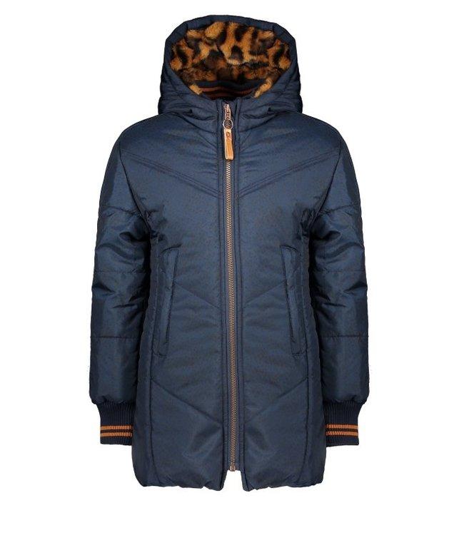 NoNo Nono Becky long hooded jacket navy