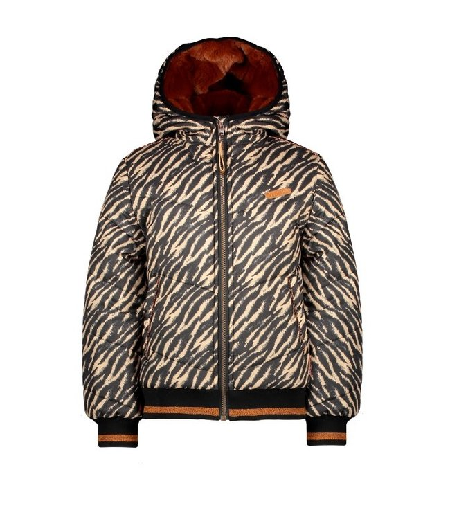 NoNo Nono 100% Recycled Polyester hooded bomber jacket Bella black