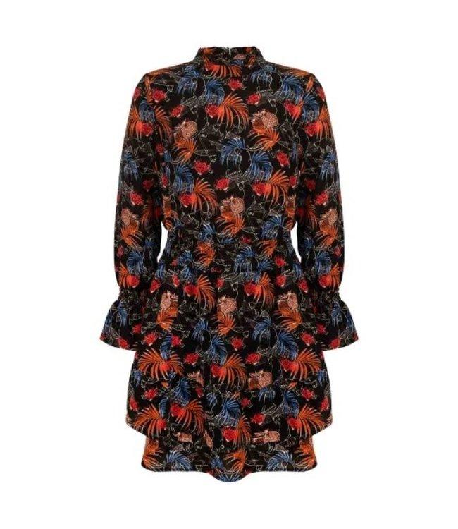 Indian bluejeans IBJ LEAVES DRESS Black IBGW21-5111 999