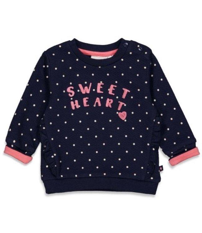 Feetje Feetje Sweater stip - Sweetheart Marine 51601723
