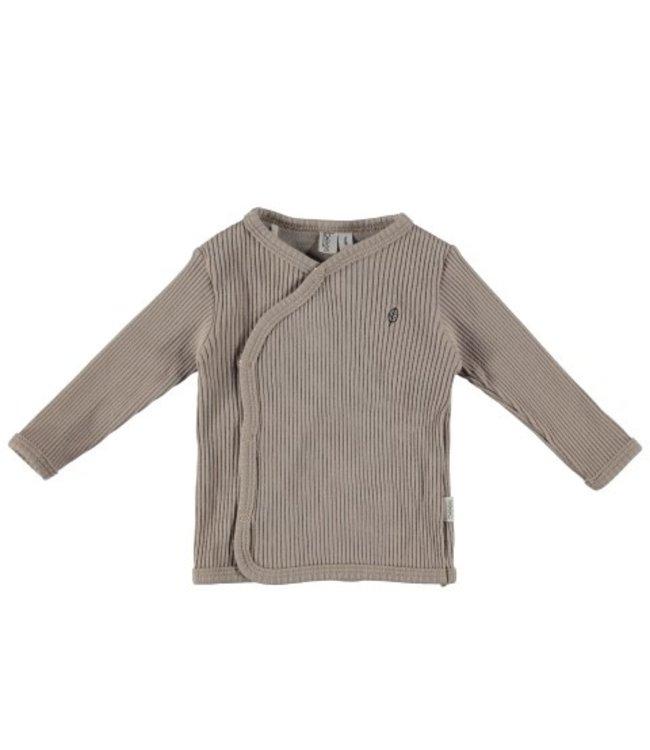 Bess Bess organic  Shirt l.sl. Wrap Rib Sand BO3002-050