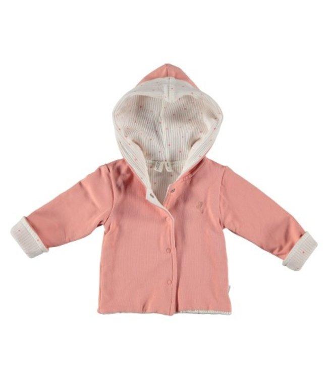 Bess Bess organic  Jacket Hoody Reversible Dusty Rose BO3009-038