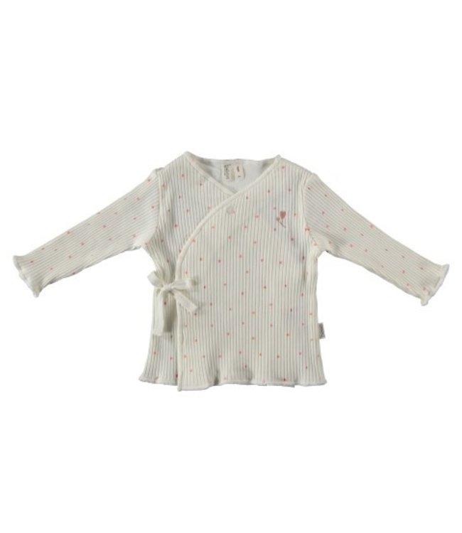 Bess Bess organic  Shirt l.sl. Wrap Dots Dessin BO3010-016