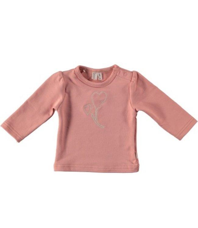 Bess Bess organic  Shirt l.sl. Embroidery Dusty Rose BO3012-038