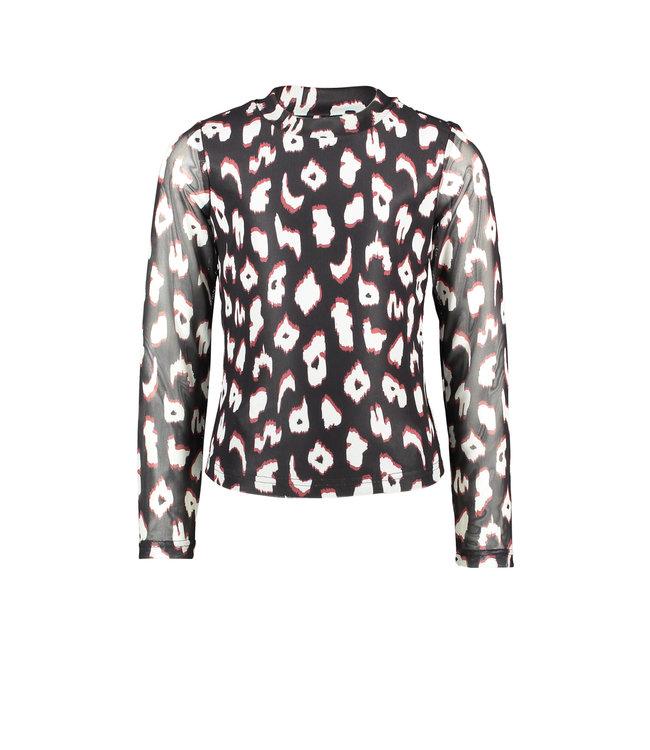 B.Nosy B-nosy Girls turtle neck ls shirt with body lining you leopard Y108-5122 047