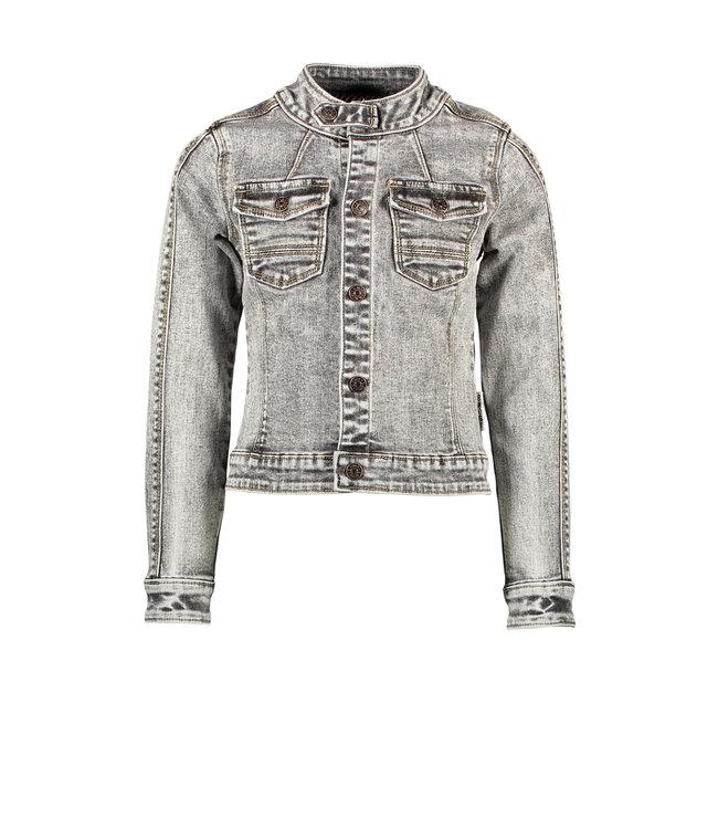 B.Nosy B-nosy Girls denim pilot jacket with elasticated backside you denim Y108-5320 054