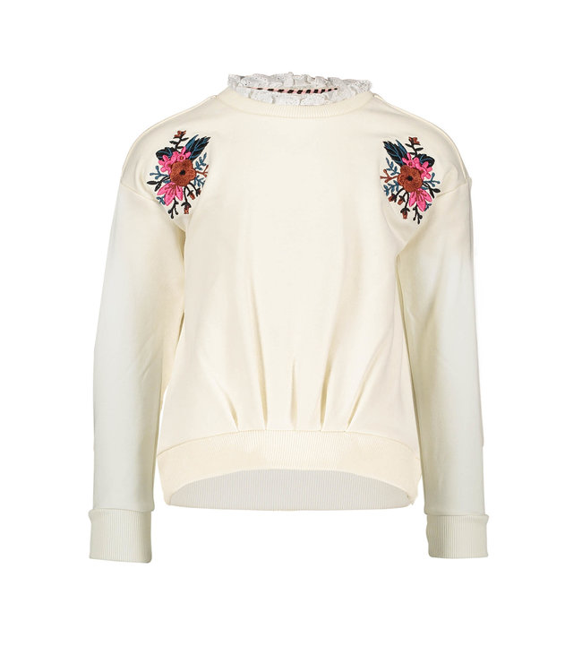 B.Nosy B-nosy Girls sweater with embroidery on shoulder Cotton Y108-5324 012
