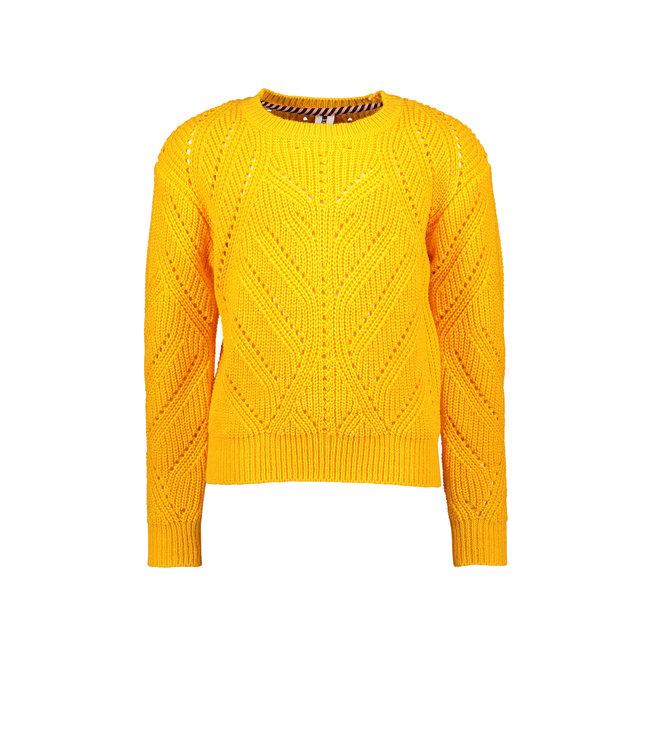 B.Nosy B-nosy Girls heavy knitted cardigan Saffron Y108-5383 523