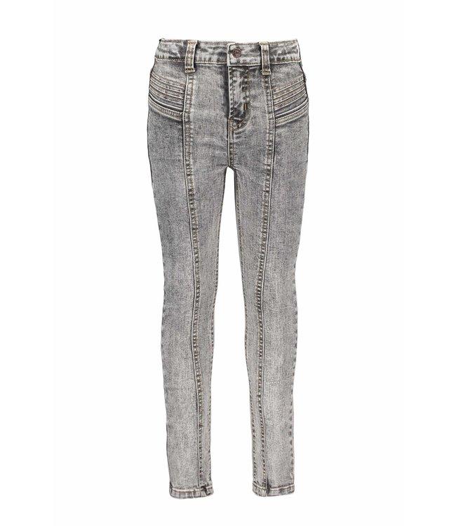 B.Nosy B-nosy Girls high waist denim with pleated details you denim Y108-5621 054