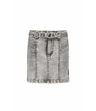 B.Nosy B-nosy Girls denim skirt with belt and pleated details you denim Y108-5723 054
